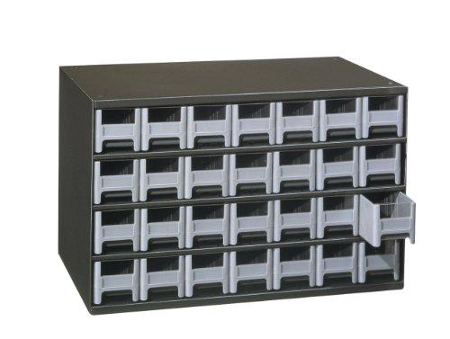 Akro-Mils 19228 28 Drawer Steel Parts Storage Hardware and Craft Cabinet Grey Drawers