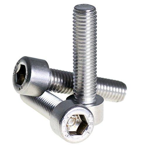 Bolt Base 6mm A2 Stainless Steel Allen Bolt Socket Cap Screw Hex Head M6 X 14 - 10