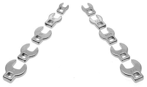 Powerbuilt 640830 38-Inch Drive Crowfoot Wrench Set 10-Piece