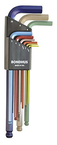 Bondhus 69499 Ball End L-Wrench Set with ColorGuard Finish 9 Piece