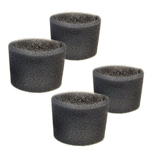 HQRP 4-pack Foam Filter Sleeve for Shop-Vac BullDog Series 85S200 585-03-00 587-08-00 Blower Vac Series BLB450 963-12-00 963-11-04 Wet Dry Vacuums  Coaster