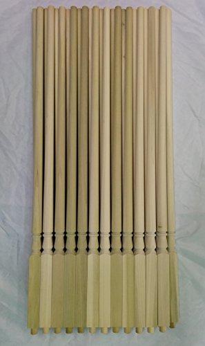 W S Woodturning 5015 Traditional Wood Baluster 125 Sq X 36 L 25 Pack Poplar