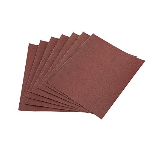 9 in x 11 in 100 Grit Aluminum Oxide Sanding Sheets 7 Pk 90 Day Warranty 90 Day Warranty
