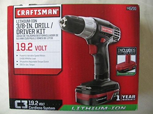 Craftsman C3 192-volt 38-in Lithium-ion Drilldriver Kit