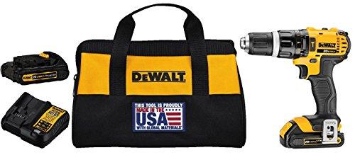 DEWALT DCD785C2 20V MAX Lithium Ion Compact 15 Ah Hammer DrillDriver Kit