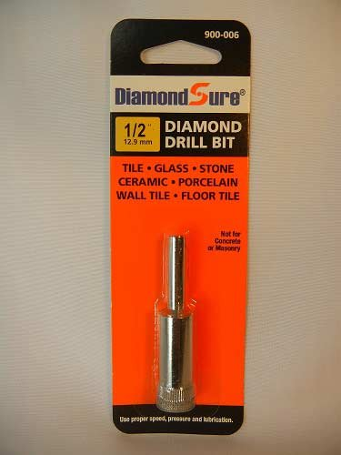 12 Inch 129 mm DiamondSure Diamond Drill Bit Hole Saw for Glass Tile Granite Ceramic Porcelain Stone