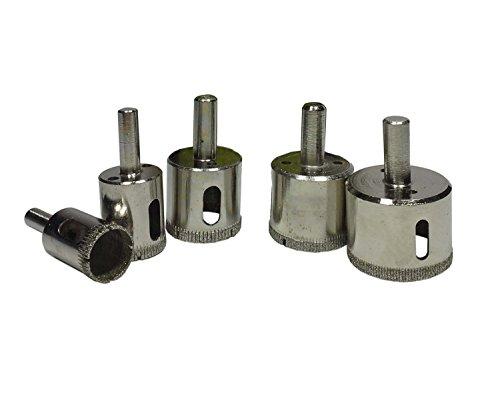 Alytimes 5 Pcs Diamond Drill Bits Diamond Tools for Tile  Glass Marble  Granite  Ceramic  Porcelain  Stone-Included Holesaw Size 34 1 1-316 1-38 1-58
