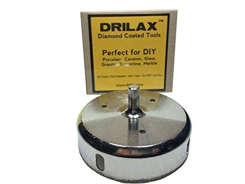 Drilax 3-12 Inch Diamond Hole Saw Glass Drill Bit