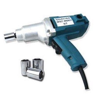 New 12 Electric Impact Wrench Gun Set w Case Sockets Driver
