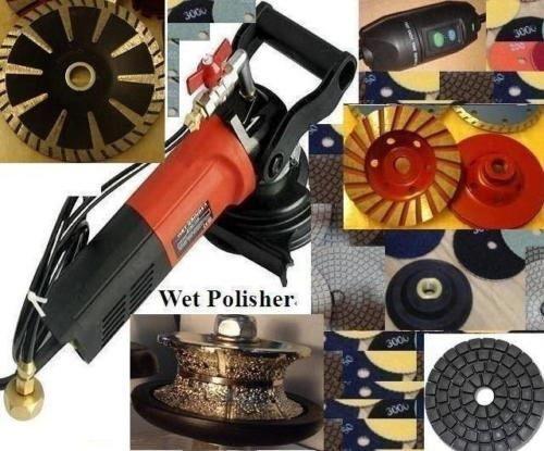Wet Granite Concrete Sander Polisher 12 Full Bullnose Router Profiler Diamond polishing pad buff grinding cup convex concave blade marble travertine