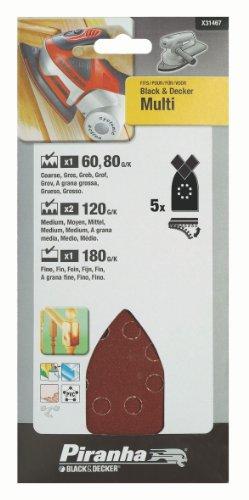 Black And Decker Multi Sander Sheets 5 Assorted