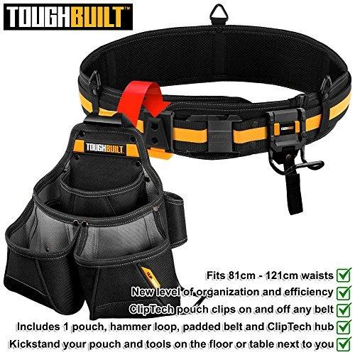 Pro Framer Tool Belt Set Black 3-Piece by ToughBuilt