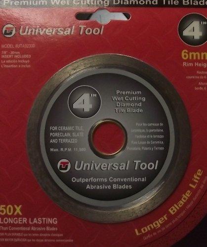 Universal Tool 4 Continuous Rim Diamond Wet Cutting Tile Saw Blade UTA92300