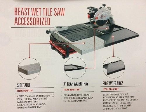 Lackmond Beast 7 Rear Water Tray fits Beast 7 Wet Tile Saw BEAST7RWT