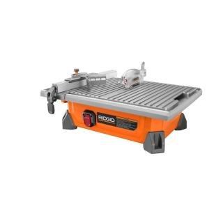 RIDGID 7 Portable Job Site Wet Tile Saw 65 Amp Induction Motor Power
