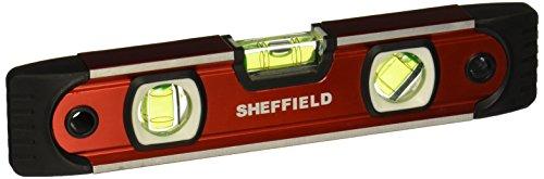 Sheffield 58640 9 Inch Magnetic V-Groove Torpedo Level