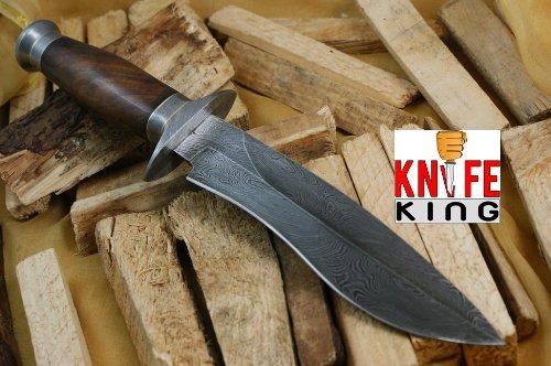 Knife King Cobra Damascus Handmade Bowie Hunting Knife Comes with a sheath