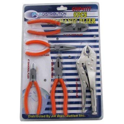 Mechanics 5 Piece Plier Complete Set Forged Steel Pliers Vice Grip Plier