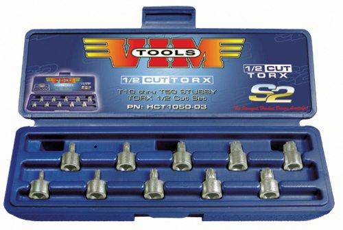 VIM Tools HCT1050 10-Piece Half-Cut Torx Driver Set