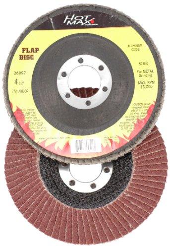 Hot Max 26100 7-Inch 80 Grit Flap Disc 78-Inch Arbor Aluminum Oxide Type 29