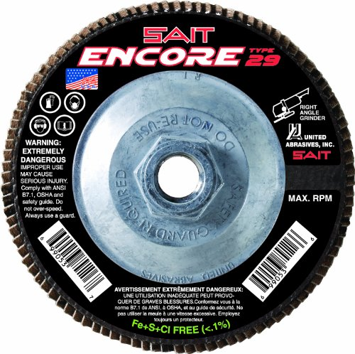 SAIT 79111 Encore Type 29 Flap Disc 4-12 X 58-11 Z 120X 10 Pack
