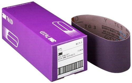 3M 81431 4 x 24 80 Grit Purple Cloth Sanding Belts 761D - 5 Belts per Package