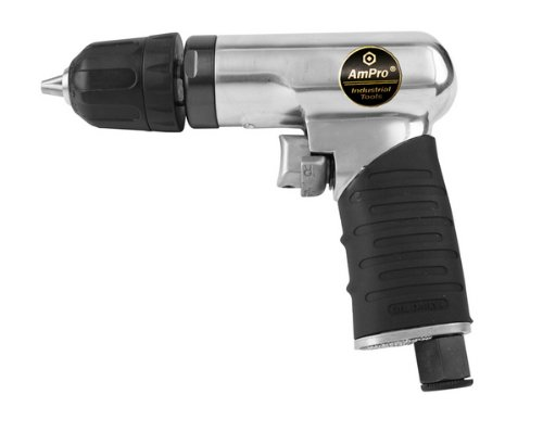 Ampro A2425 14-Inch Mini Reversible Air Drill with Keyless Chuck