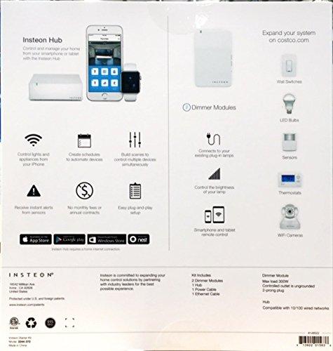 INSTEON Home Control Starter Kit 1 Hub 2 Dimmer Modules - 2244-372