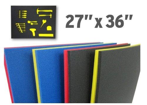 Foam Custom Tool Drawer Inserts 27x36  Black  Red