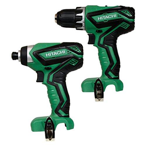 1 Hitachi DS10DFL2 12V Drill Driver 1 Hitachi WH10DFL2 12V Impact Driver - In Retail Packaging