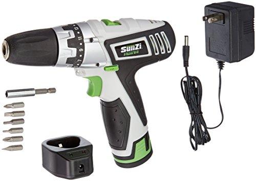 SunZi PT12101-11 Cordless 12-Volt 12V Lithium-Ion 2-Speed 38-Inch DrillDriver