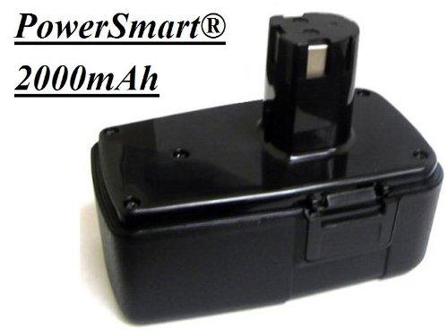 PowerSmart 2000mAh Replace 18V 18 volt Drill Battery For Craftsman 11306 982321-001 20Ah Ni-Cd