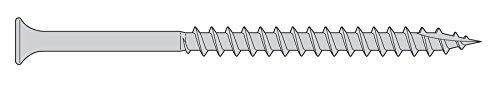 7 x 2-14 Deck Screws - 3000 Pieces - Trim Head Star Drive 316 Stainless Steel Marine Grade Type 17 Auger Point - Bulk Box