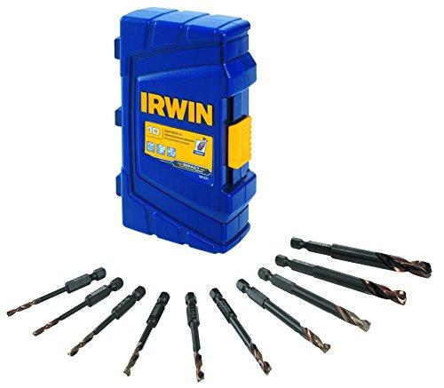 IRWIN Tools 1881324 Impact Performance Series Turbomax Black and Gold Drill Bit Pro Set Case 10-Piece