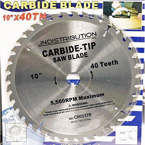 10 x 40 Tooth Carbide Circular Saw Blade