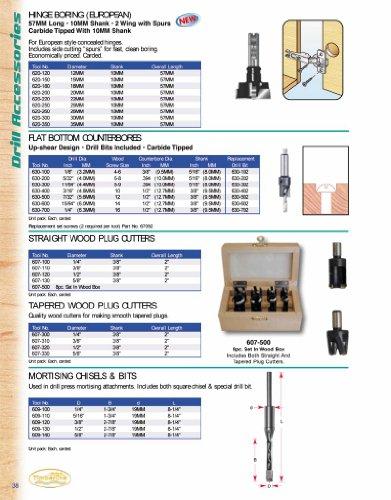 Timberline 607-110 38 Dia Wood Plug Cutter