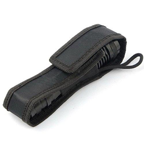 Bihood Universal Flashlight Holder Nylon Flashlight Holder Streamlight Flashlight Holder Police Flashlight Holder Surefire Flashlight Holder Flashlight Belt Flashlight Holder for Duty Belt C8 Black