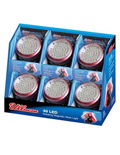 Ullman Devices RT-48LT6PK 48 LED Rotating Magnetic Work Light Pack of 6