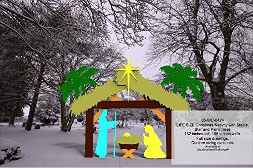 Nativity Life Size Silhouettes Yard Art Woodworking Pattern