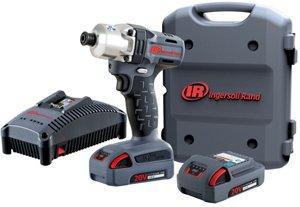 Ingersoll Rand W5110-K22 14 20V Quick Change Mid-Torque Hex Drive Impact Kit