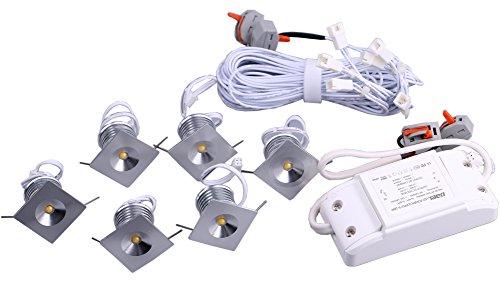 Yeeco LED Downlight Gimbal Retrofit LED Recessed Light Fixture Celling Light 4000K 4W Nature White Light