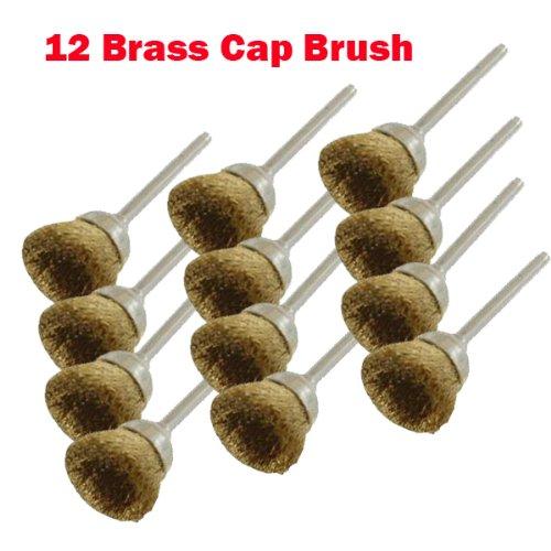 12 Rotary Brass Wire Cap Brush L Dremel 3000 4000 8220-228 395 7700-115 4000 334 Chicago Electric Milwaukeen Nextec18 Shank Hobbyy Clean Polish  Craftsma