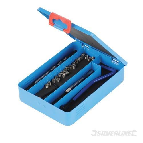 20x Silverline M8x 125mm Thread Repair Kit Engineering Threading Tools