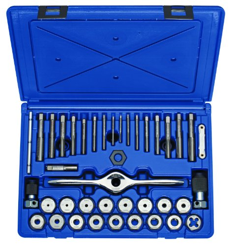 Irwin Tools 1841346 Performance Threading System Self-Aligning Tap and Die Set -Machine ScrewFractional 40-Piece