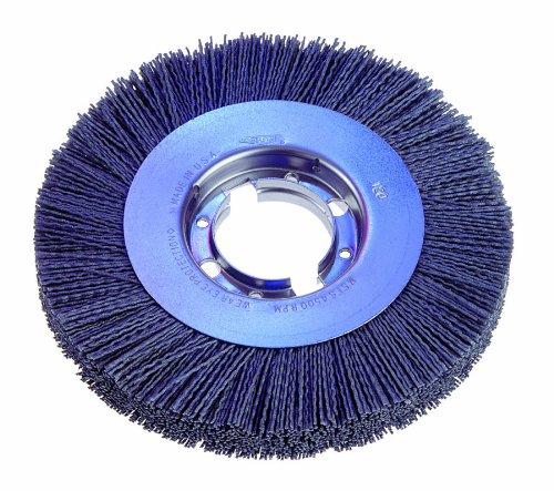 Osborn 22299SP Abrasive Wheel Brush 8 Diameter 2 Arbor Hole Silicon Carbide Fill Material Round Crimped Filament Shape 0022 Filament Diameter 78 Face Width 1-12 Trim Length 4500 Maximum RPM 320 Grit Size