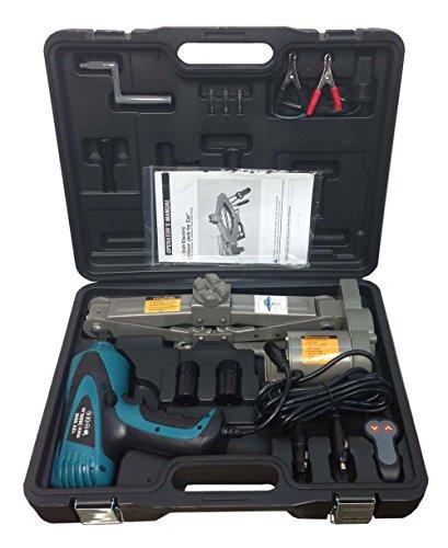 2 Ton 12V Electric Scissor Car Jack  12 Impact Wrench Lift Lifting Kit COMBO