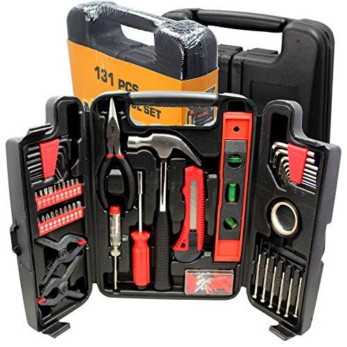 Large Tool Set Household Garage Mechanics 131 pc All Purpose Hand Tools Kit Case