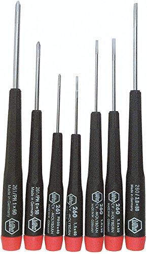 Wiha - Precision 7Pc Set Phillips 00-0-1Slotted 15 - 3mm - 26190