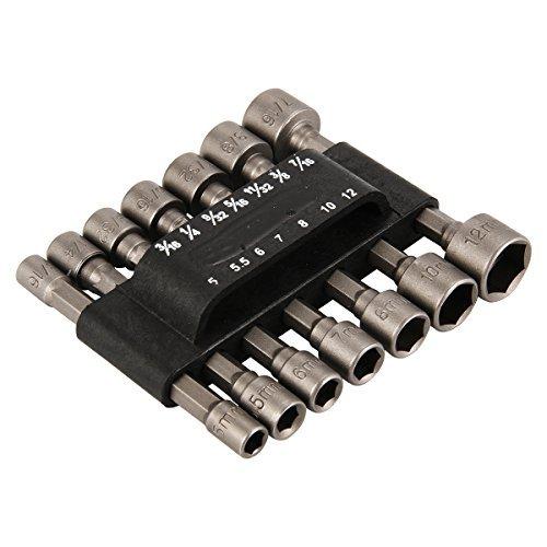 XCSOURCE 14pcs Power Nut Driver Drill Bit Set Metric Socket Wrench Screw 14 Hex BI145