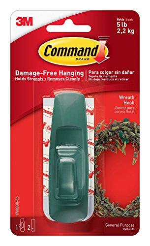 Command Large Utility Hook Green 1-Hook 2-Strips 17003GR-ES